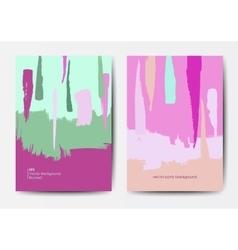 Modern grunge brush postcard template vector