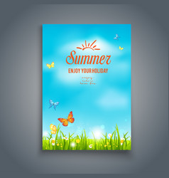nature summer template vector image vector image
