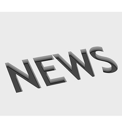 news text design vector image