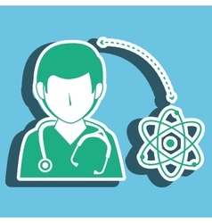 Nurse man and biology isolated icon design vector