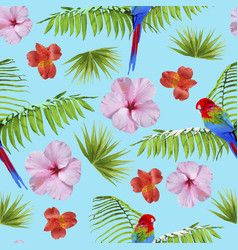 paradise summer pattern with tropical decoration vector image