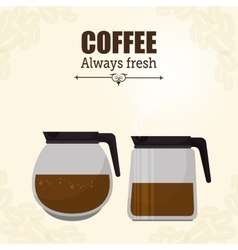 Pot glass coffee maker graphic vector
