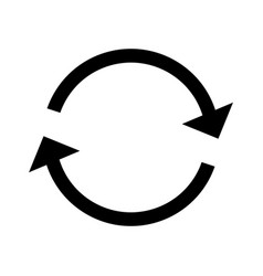 repeat glyph black icon vector image