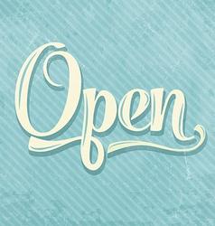 Retro open sign vector
