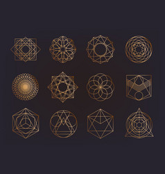 Sacred geometry symbols collection hipster vector