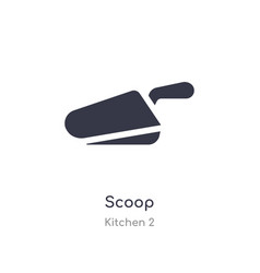 Scoop icon isolated scoop icon from kitchen 2 vector