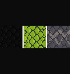 seamless with different snakes skin vector image