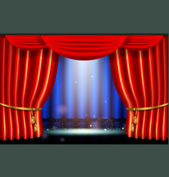 show bright lighting spotlight effect with vector image