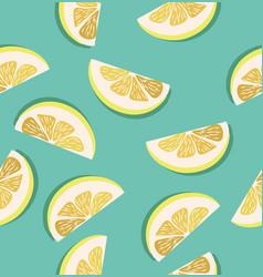 slice of a lemons pattern vector image