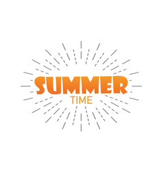 summer time summer with burst isolated background vector image