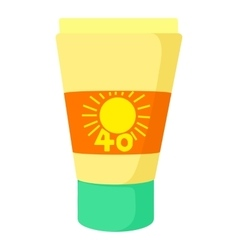 Sunscreen icon cartoon style vector