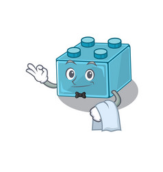 Sweet lego brick toys character working as a vector