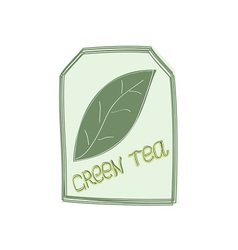 The tag of green tea vector image