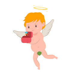 valentines day cupid character vector image