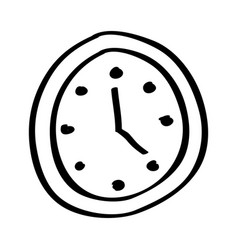 watch clock isolated icon vector image