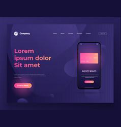 web page design for website vector image