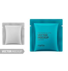 White matte square sachet 3d vector