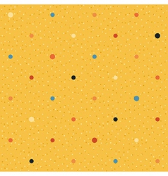 Yellow seamless textured polka dots pattern vector
