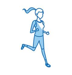 character girl sport runner fitness vector image vector image