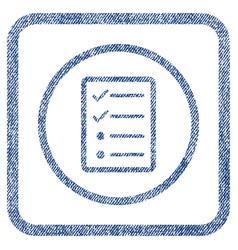 Checklist page fabric textured icon vector