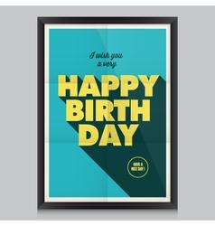 Happy birthday poster card vector image vector image