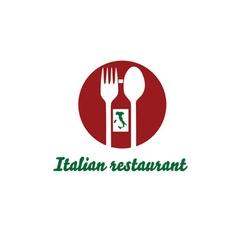italian restaurant design template vector image