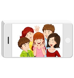 Picture of people in the cellphone vector image vector image