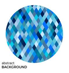 blue circle of rhombuses vector image