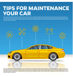 car mainentance tips yellow vector image
