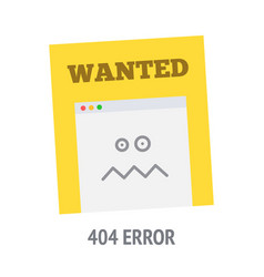 error 404 page not found vector image vector image