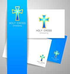 holy cross logo vector image