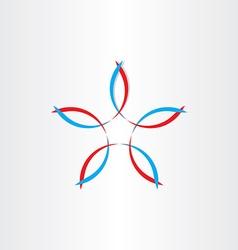 stylized flower symbol design vector image