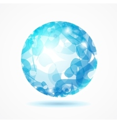 Abstract Sphere Blue vector image vector image