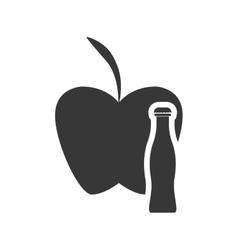 Apple drink healthy food design vector