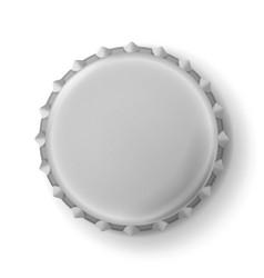 Beer cap metallic bottle cap isolated on vector
