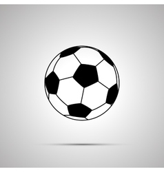 Football ball simple black icon vector image