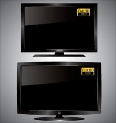 Led lcd tv vector