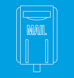 Mail box post icon outline style vector