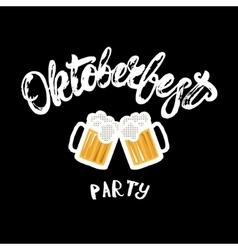 Oktoberfest party hand written lettering poster vector image