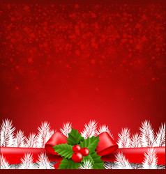 red winter card vector image