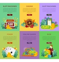 Set of Gambling Banners In Flat Design vector image