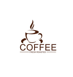 coffe cup steam icon for coffeeshop design vector image
