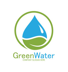 green water logo vector image