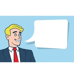 Happy smiling businessman with empty vector image vector image