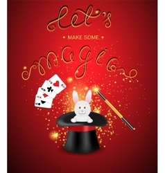 Magic show template vector image