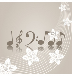 musical symbols vector image vector image