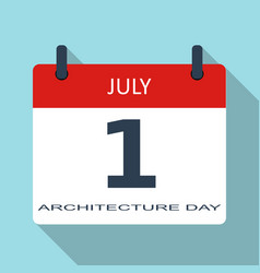 1 july architecture day flat daily calend vector image