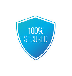100 protected guard shield concept 100 safety vector image