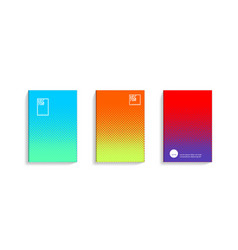 2d social media duotone gradient colorful covers vector image