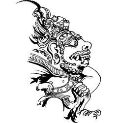 Bali motifs stone idol of bali island vector